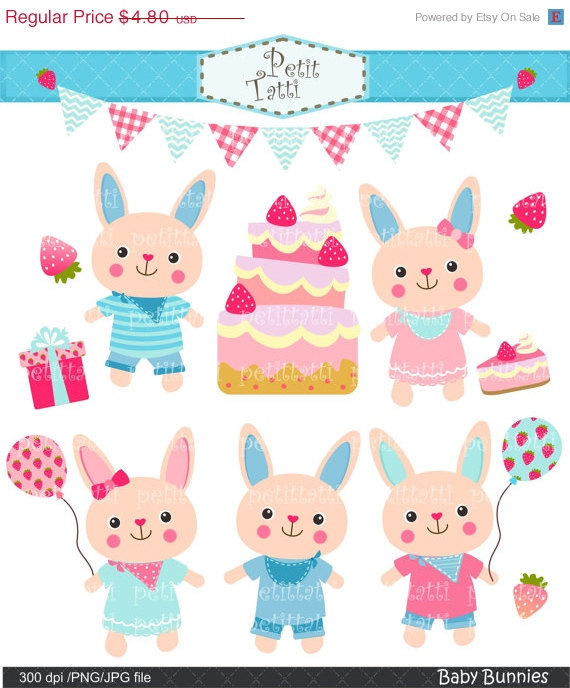 Birthday clipart bunny Clip bunny rabbit Bunny art
