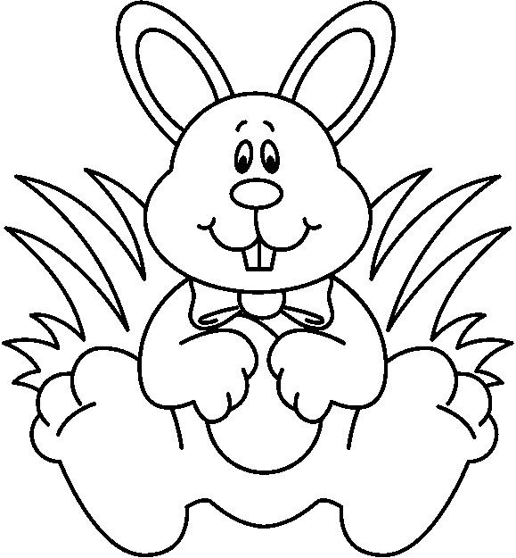 White clipart easter bunny Clipart black black black clipartfest