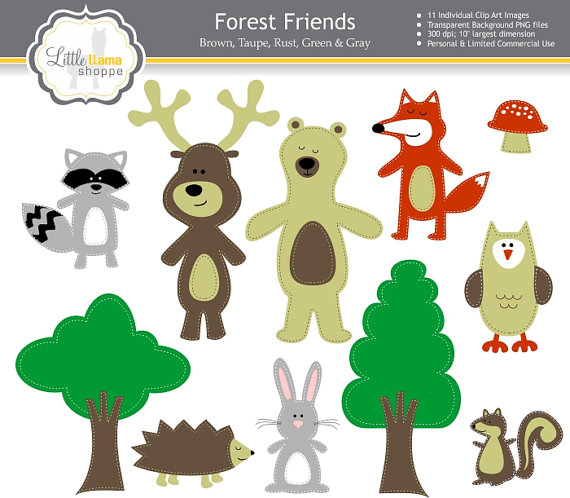 Rabbit clipart forest animal #9