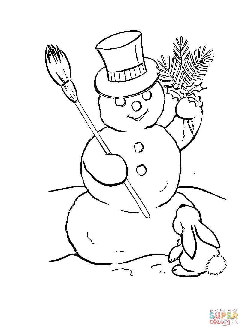 Rabbit clipart snowman #3