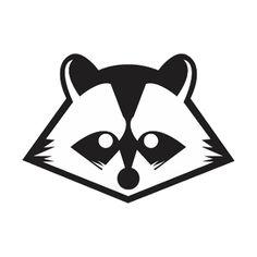 Raccoon clipart face Raccoon  Drawing retset Simple
