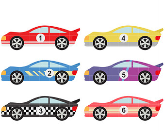 Race Car clipart automobile Digital Race Paper clip Card
