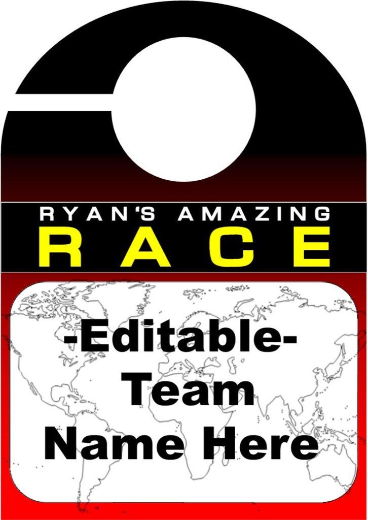 Race Car clipart amazing race – EDITABLE PartyGamesPlus Team &