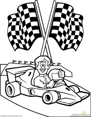 Drawn race car colouring page Car com Worksheet Coloring Education