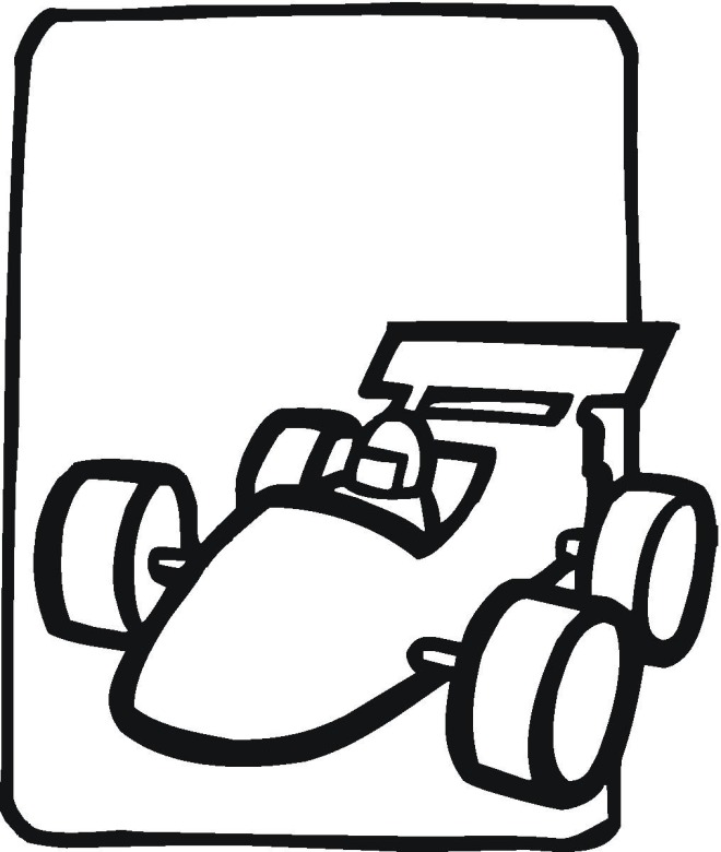 Drawn race car coloring page Coloring Race car  page