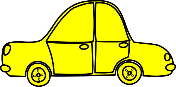 Yellow clipart toy car Clip at Car Outline collection