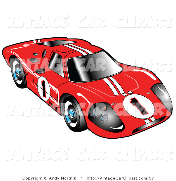 Race Car clipart red Red Front Racing GT40 Mark