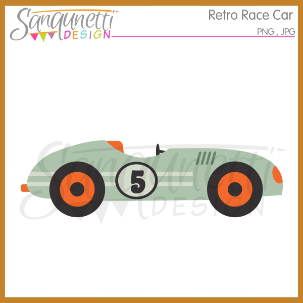 Race Car clipart retro Design: Race Sanqunetti Clipart clipart