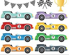 Race Car clipart retro On Digital Silhouettes more and
