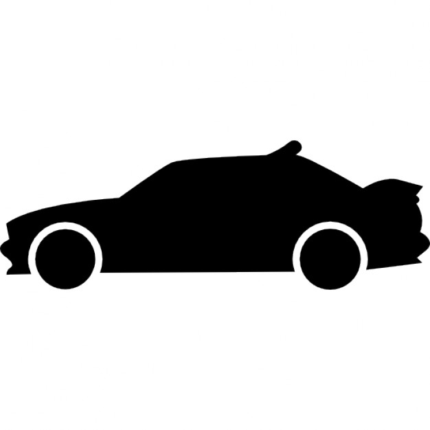 Race Car clipart silhouette Side side Racing silhouette car