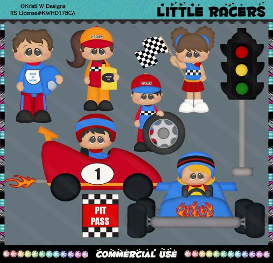 Racing clipart speedway Driver Racing Clipart Studio Set