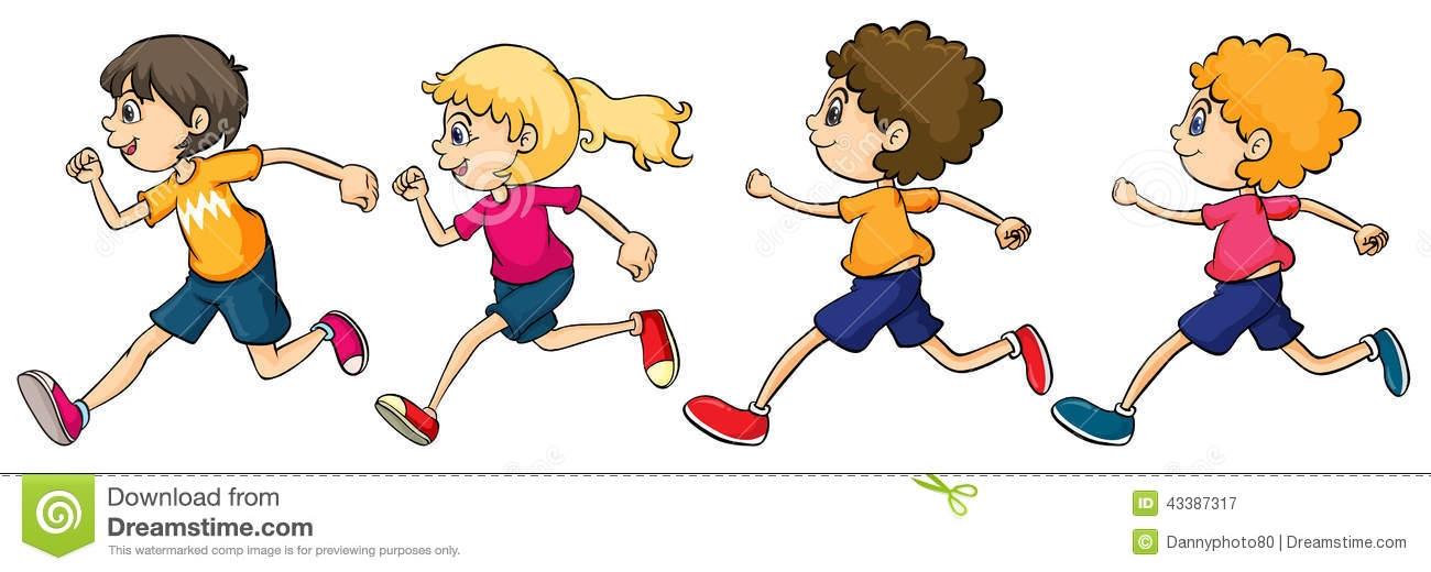 Kids Running Clipart #9