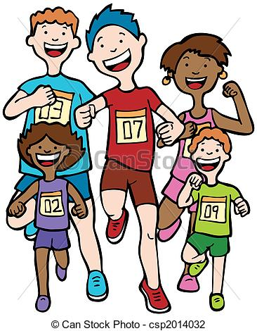 Race clipart child athletics Marathon Kid in Art running