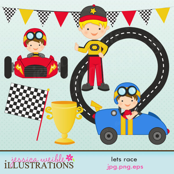Racer clipart cute Comes with  race in