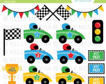 Racer clipart cute Elements for car Clip Digital
