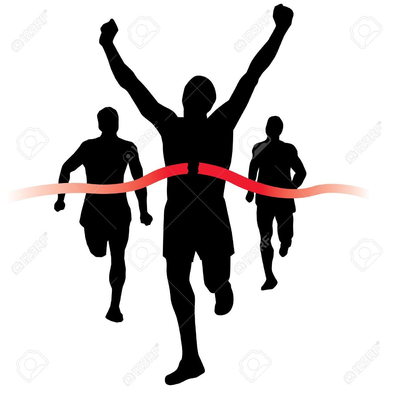 Racer clipart finish line Line Runners Clipart Finish Art