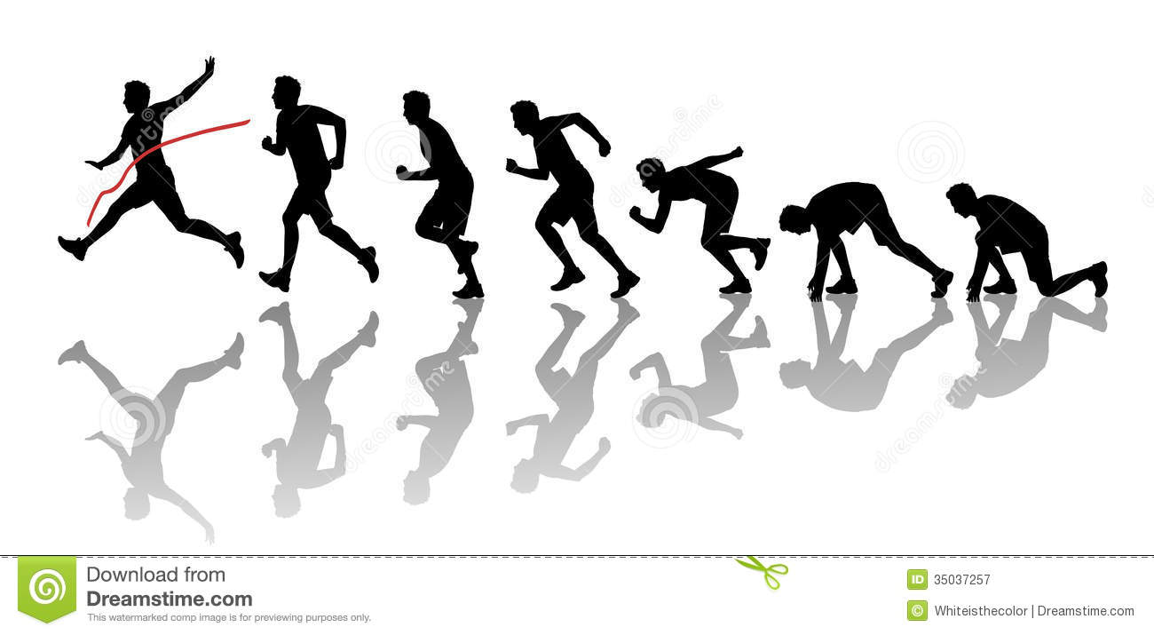 Winning clipart running race The Crossing Line Line Clipart