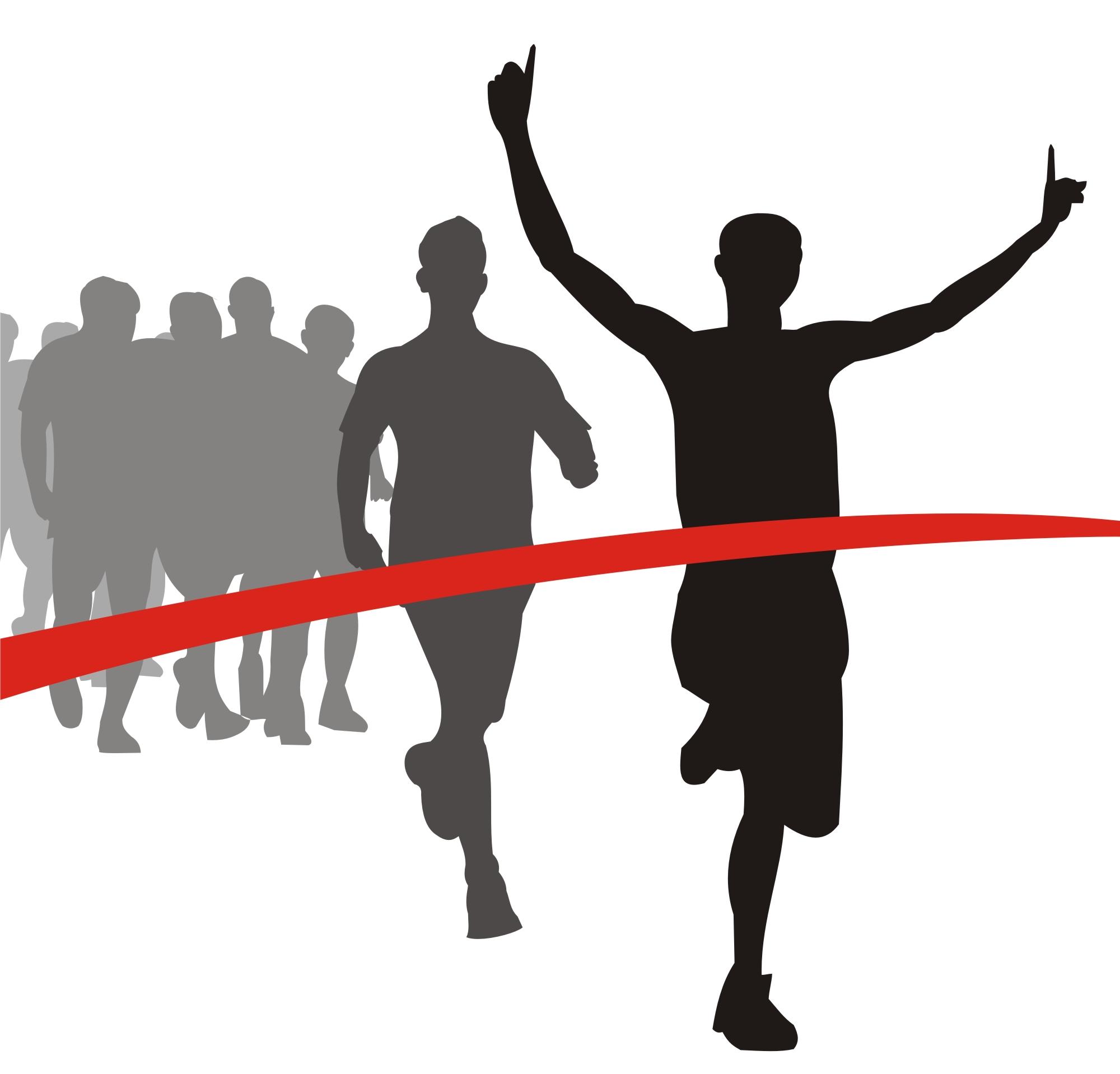 Racer clipart finish line Line Art Clip Download Finish