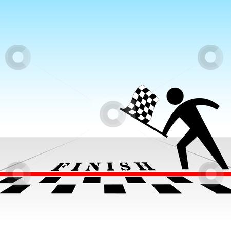 Racer clipart finish line You checkered vector & vector