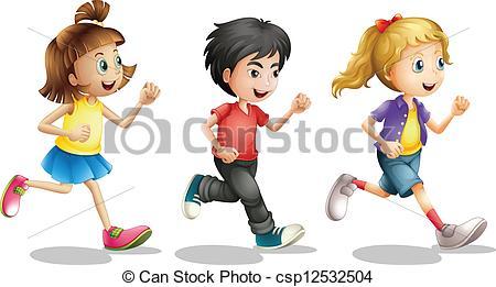Kids Running Clipart #8