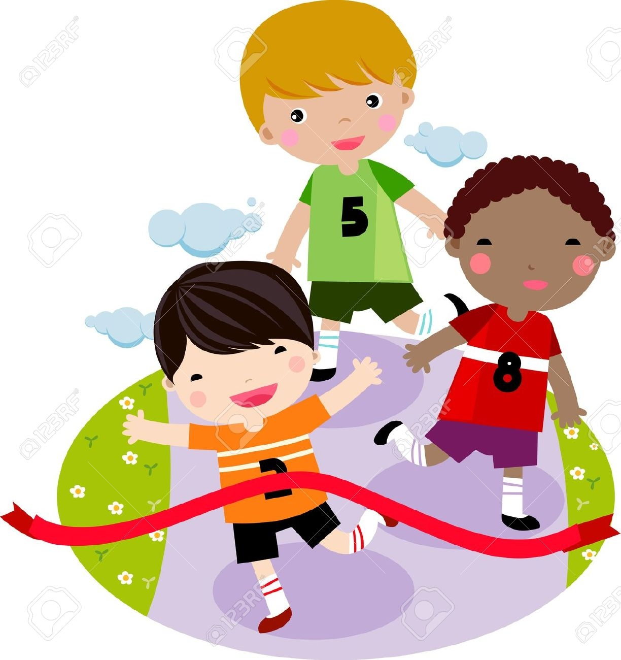 Race clipart kid fitness Free race kids clipart
