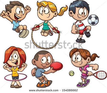 Race clipart kid fitness With a Art images Vector