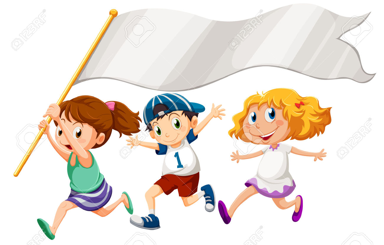 Racing clipart kids run Race 125KB Banner of banner: