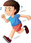 Kids Running Clipart #13