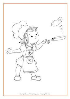 Race clipart pancake day Pancake Colouring Pages for Activities