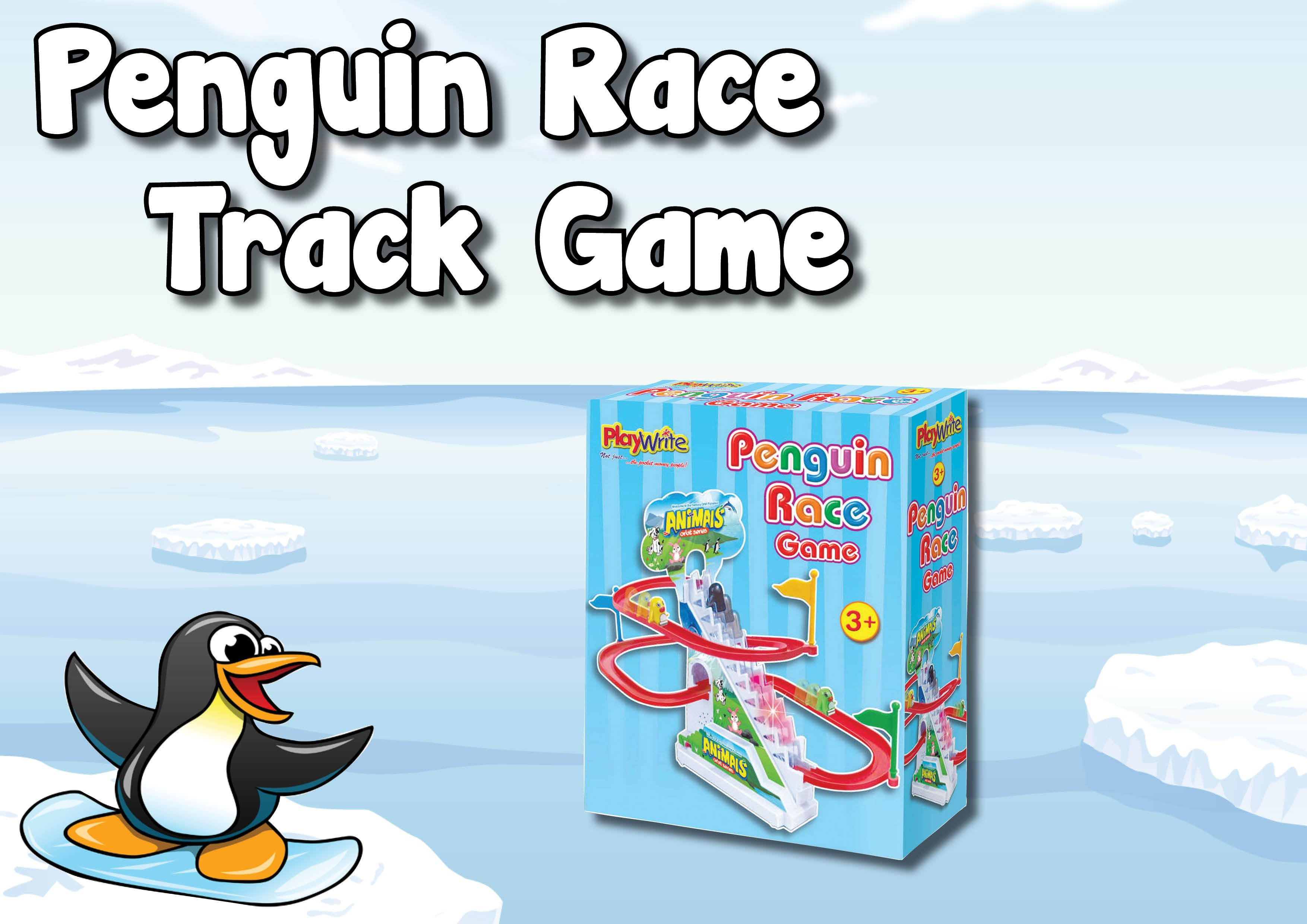 Penguin clipart track Race for Awesome Game! kids!