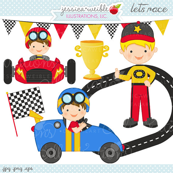 Racer clipart racing car Il_570xn Race Use Commercial OK