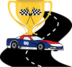 Race clipart road #8