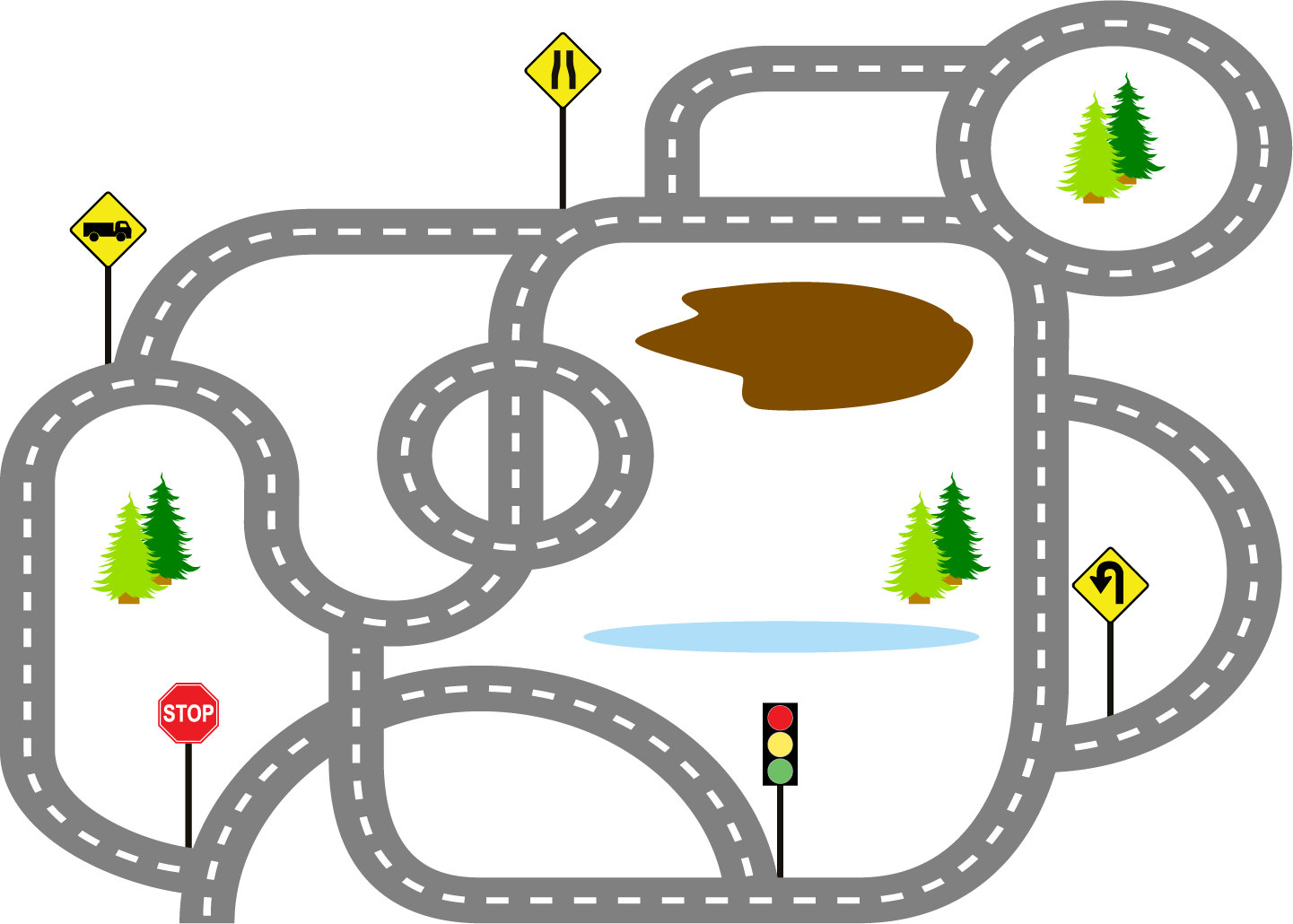 Race clipart road #11