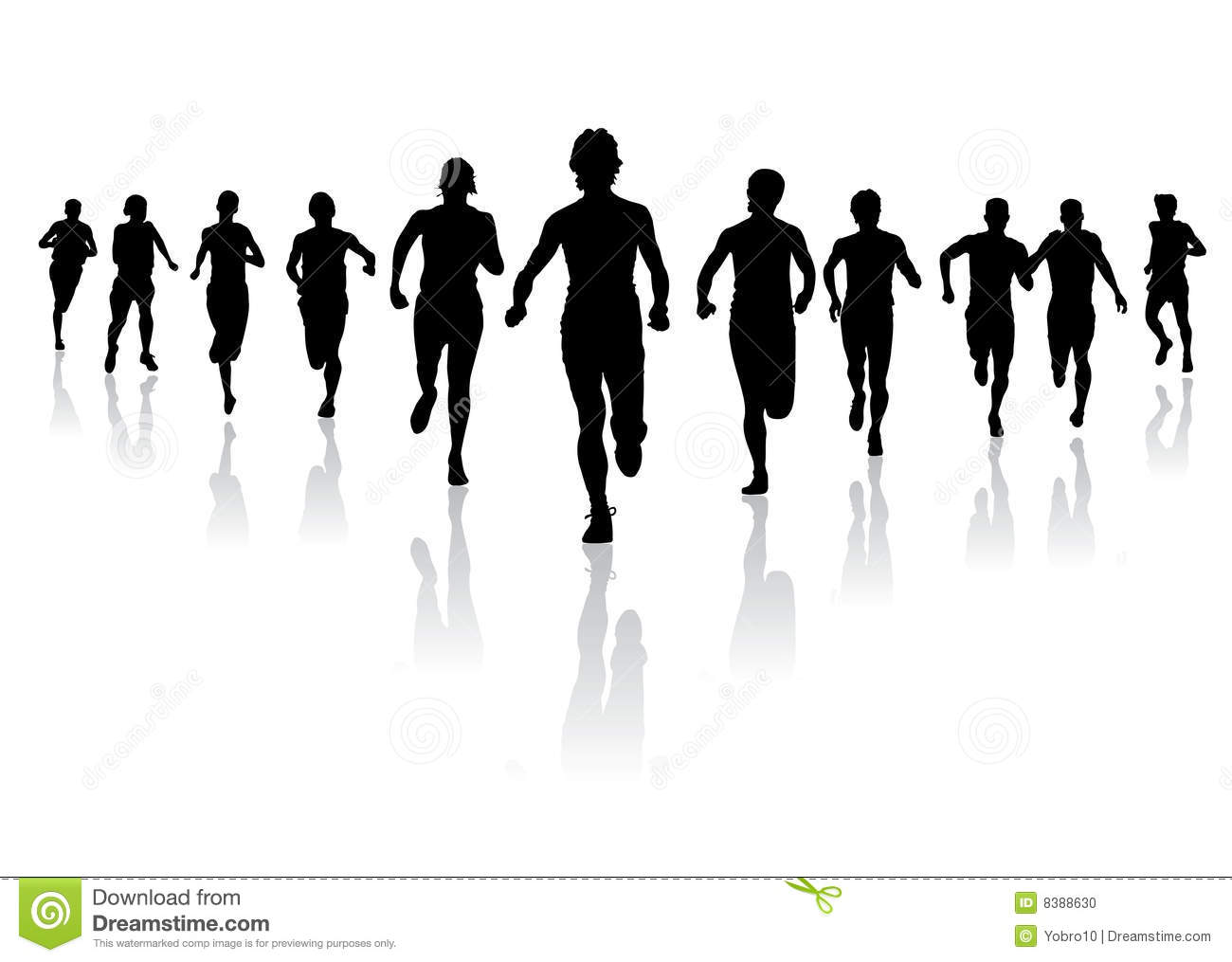Race clipart run a Clipart People  People Running