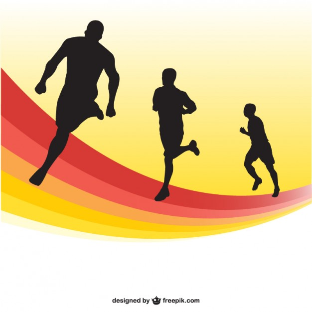 Race clipart run a Silhouettes By winner Running 626x626