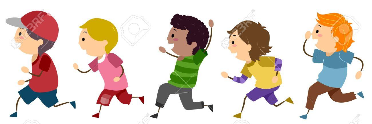 Kids Running Clipart #5