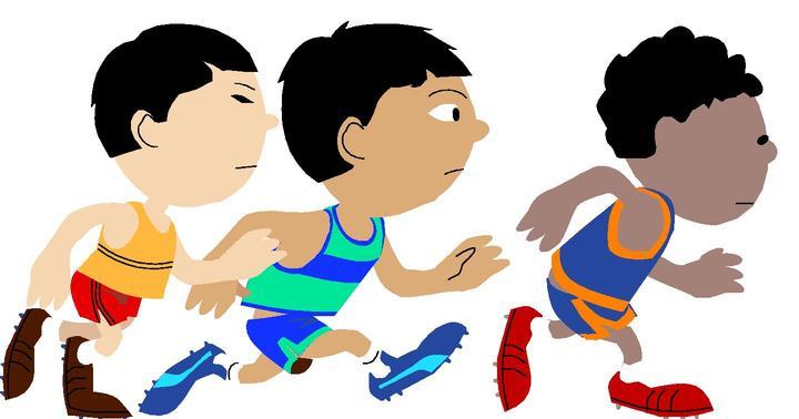Kids Running Clipart #12