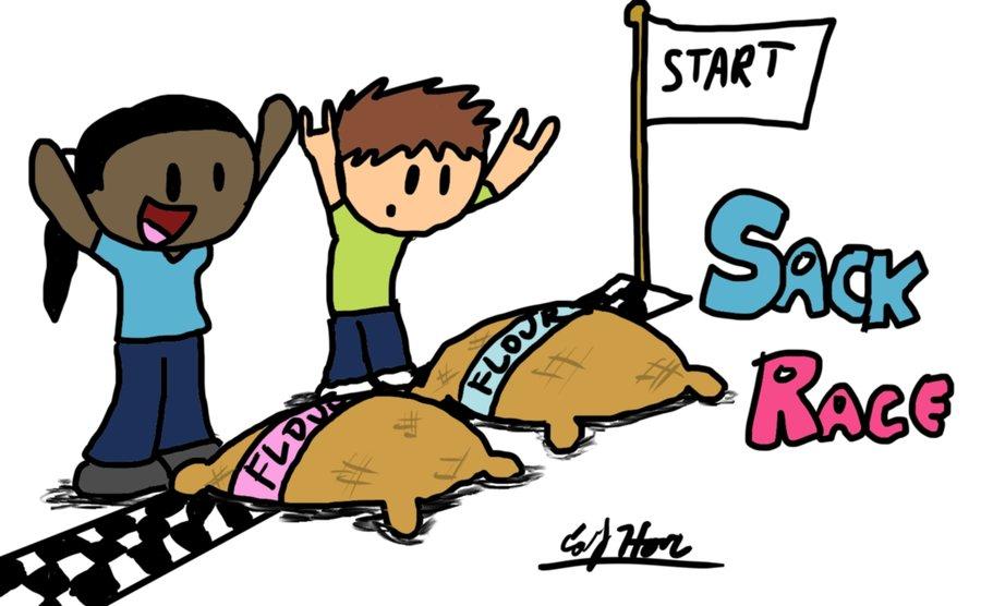 Yamaha clipart sack races Free Download Cartoon School images
