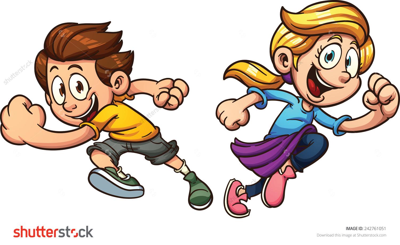 Racing clipart kids run Clipart clipart running race race