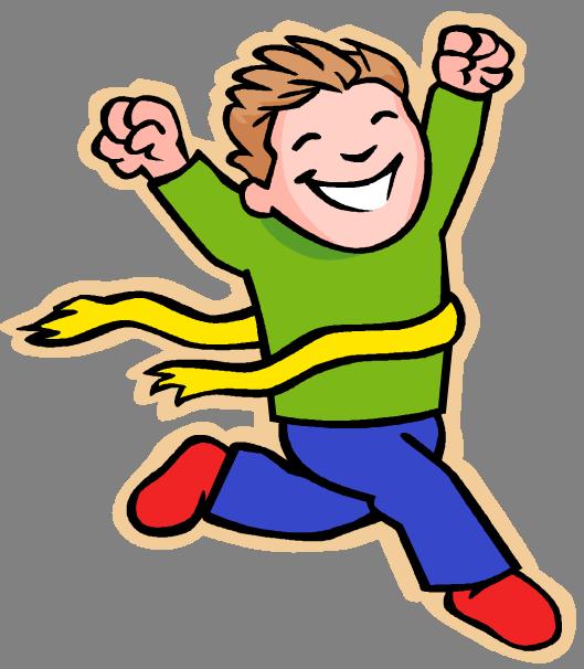 Kids Running Clipart #7