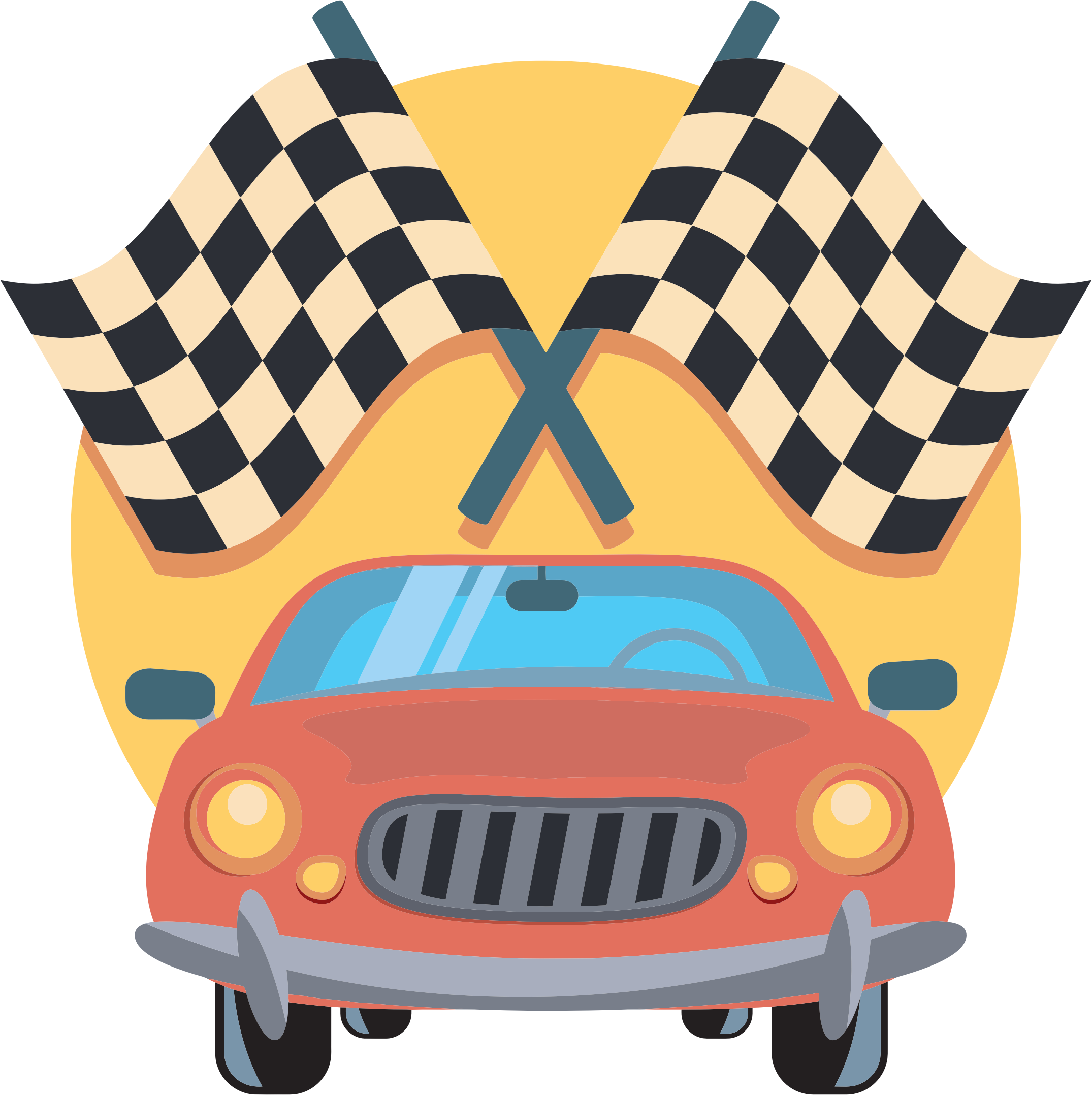 Race Car clipart automobile Clipart IMAGE Icon (PNG) Flags