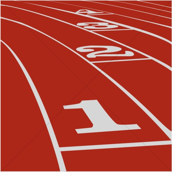 Race clipart track and field Clipart Inspirational Track Red Red