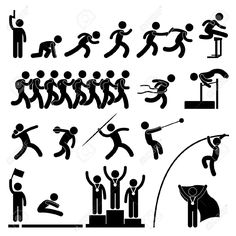 Symbol clipart track and field Clipart  Silhouette Cookies Pin