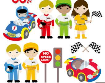 Racer clipart cute Cars Digital Race Clipart Car