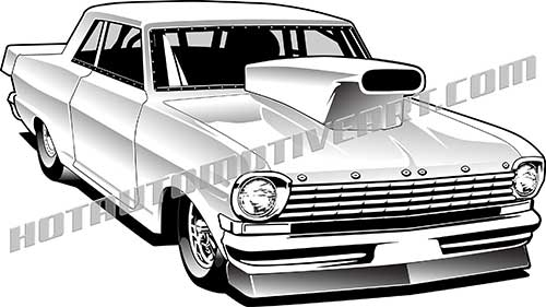 Horse Racing clipart drag racing Chevy 57 Clipart / cool