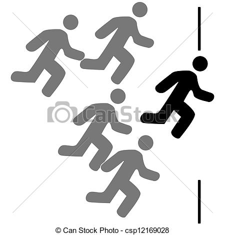 Racer clipart finish line  csp12169028 finish the Vector
