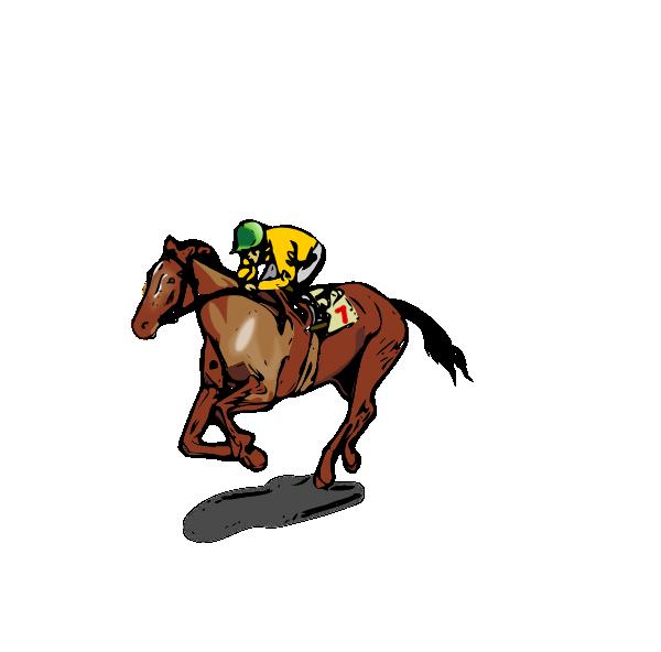 Horse Racing clipart racetrack #1