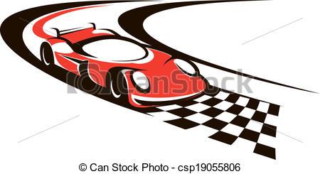 Racing clipart happy kid Crossing car racing line line