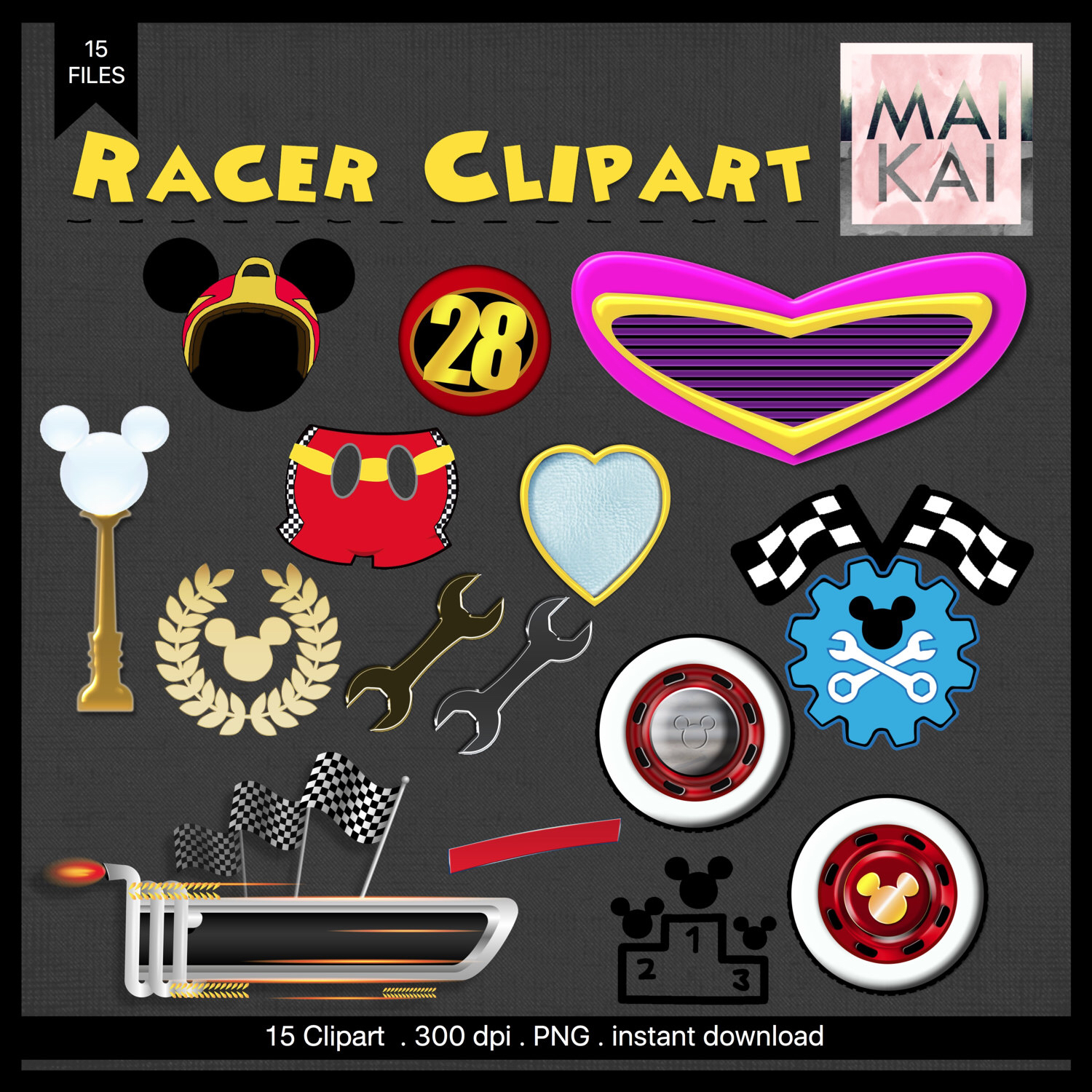 Racing clipart get ready Roadster clipart mickey a Minnie