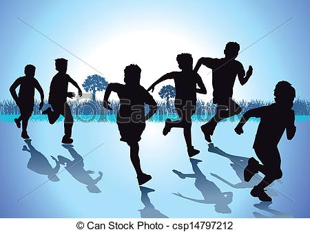 Racing clipart kids run  Run and art 60